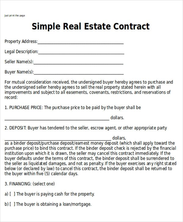 Sample Home Sales Contracts - 6+ Examples in Word, PDF - house sales contract