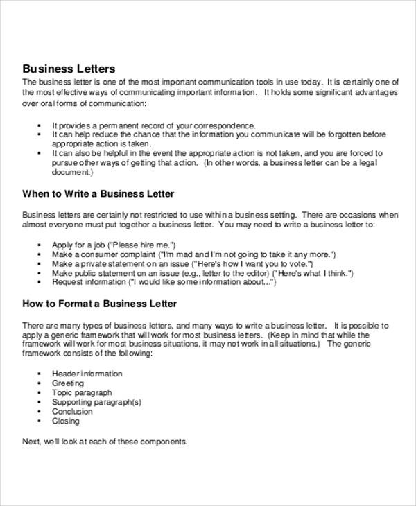 5+ Sample Business Letter Salutations Sample Templates - sample closing a business letter