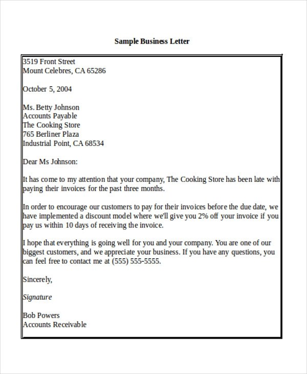 Sample Business Letter Salutation - 5+ Examples in Word, PDF - business letter salutation