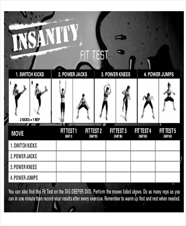 6+ Sample Workout Tracking Sheets Sample Templates