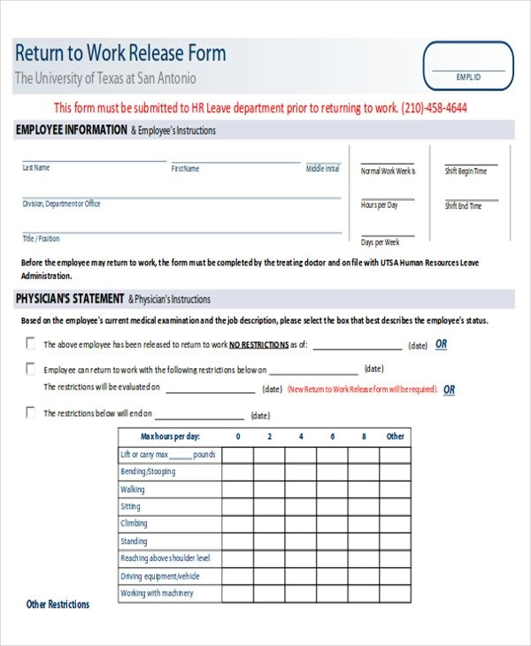 100+  Sample Leave Authorization Form  Application Sample For - example of leave form