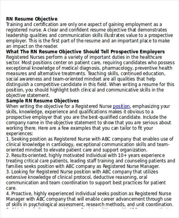 10+ Sample RN Resume - Examples in Word, PDF