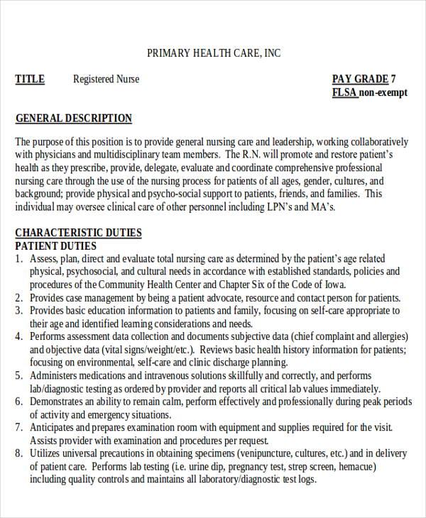 nurse resume sample entry level