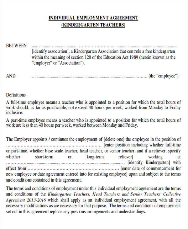 12+ Sample Employment Agreements Sample Templates