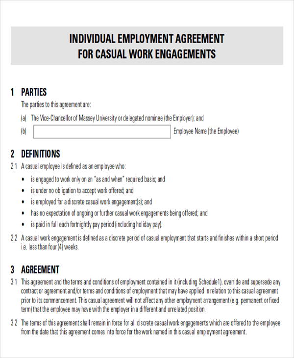 23+ Sample Employment Agreements - Free Word, PDF Format Download