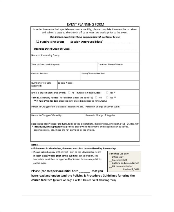 8+ Sample Event Order Forms Sample Templates
