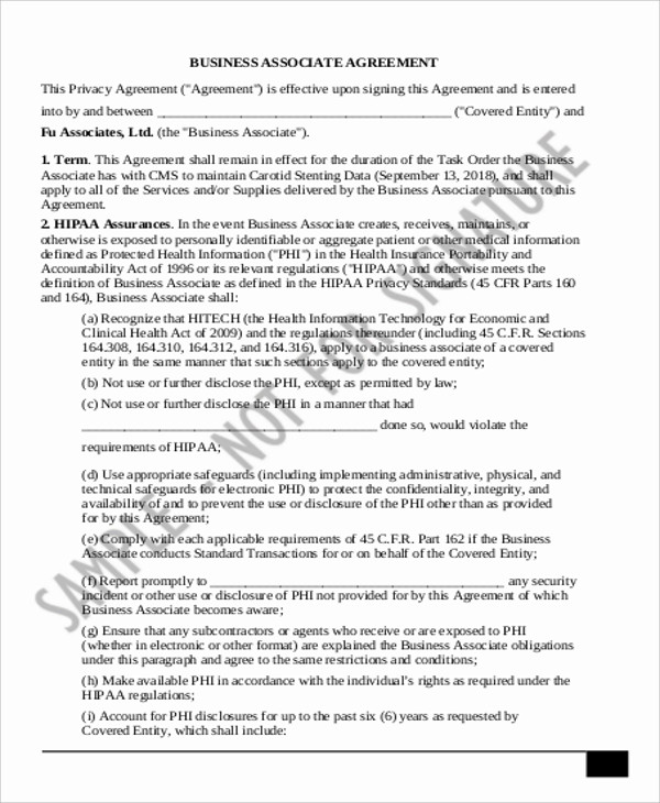 ... 11+ Sample Business Agreements Sample Templates ...