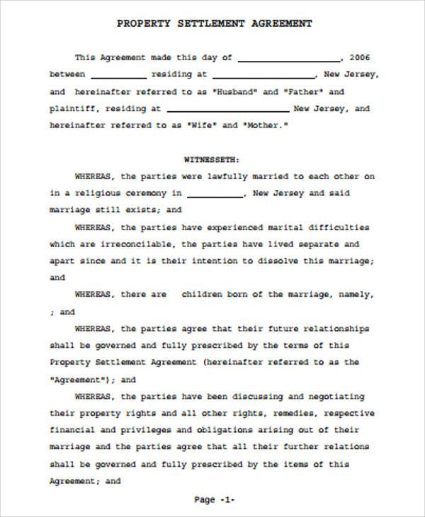 10+ Sample Settlement Agreements Sample Templates - settlement agreement template