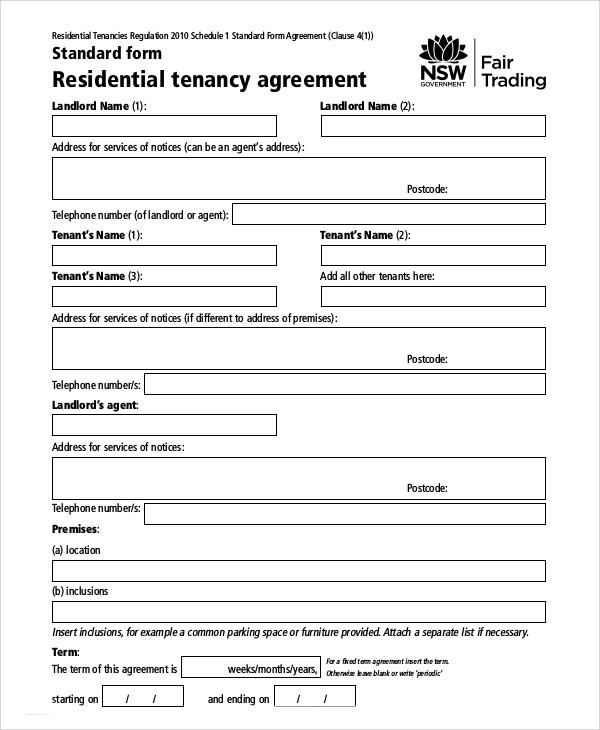 Doc#830535 Tenant Contract Template Free u2013 Tenancy Contract - free tenant agreement