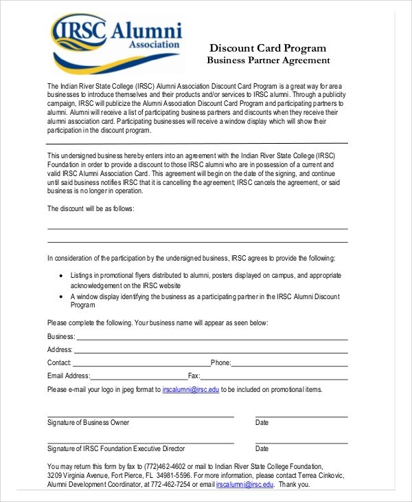 Sample Business Partnership Agreements in PDF - 10+ Examples in PDF