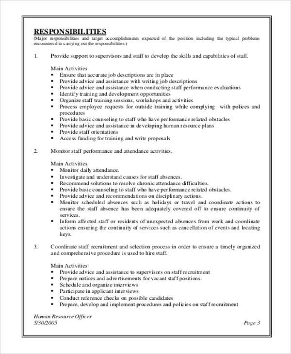 Human Resource Management Job Description Sample - 7+ Examples in
