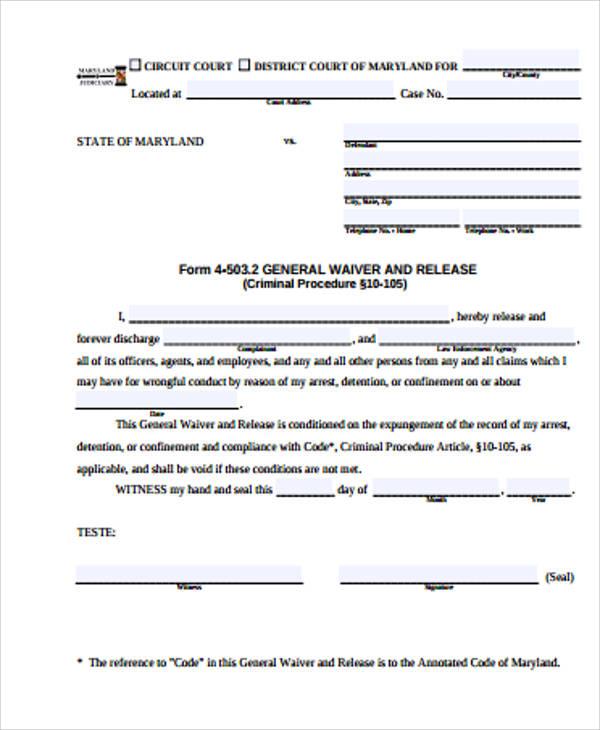 general waiver and release form - Seatledavidjoel