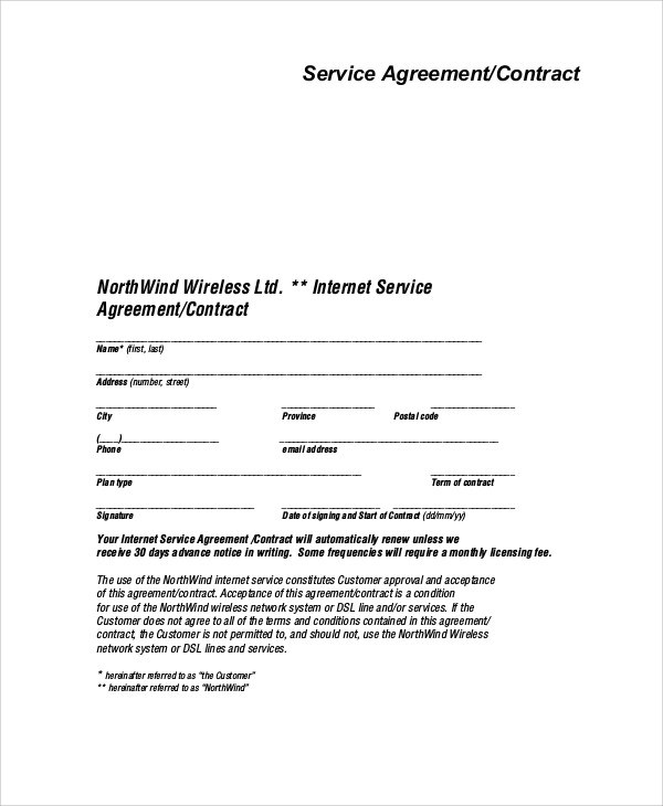 samples of contract agreement - Onwebioinnovate