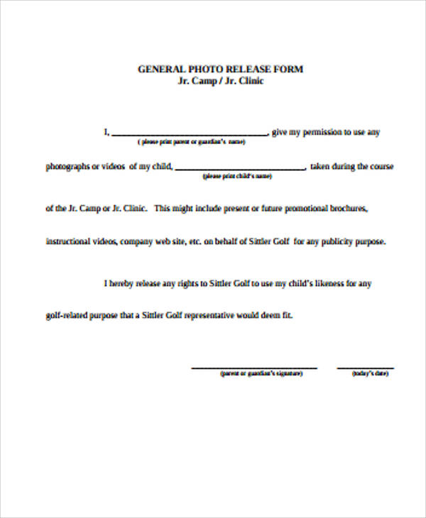 general photography release form - Ibovjonathandedecker