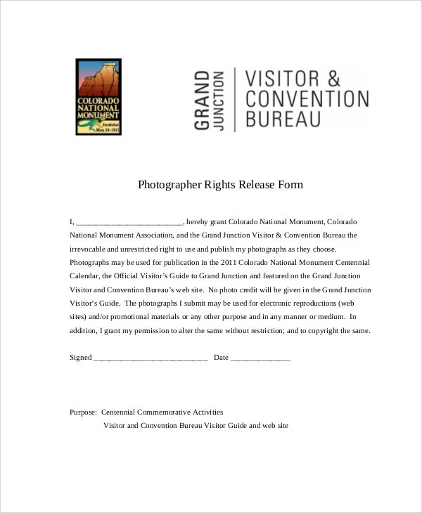 Photographer Release Form  BesikEightyCo