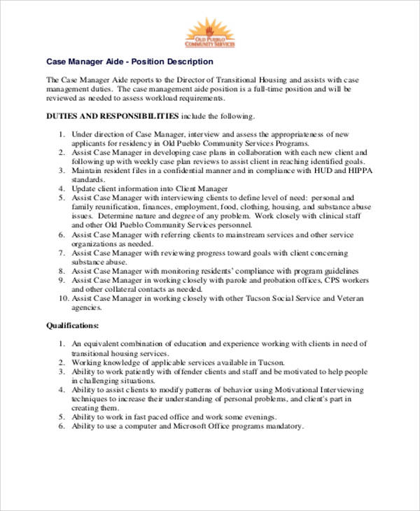 Caseworker Job Description Case Worker Resume   Caseworker Job Description