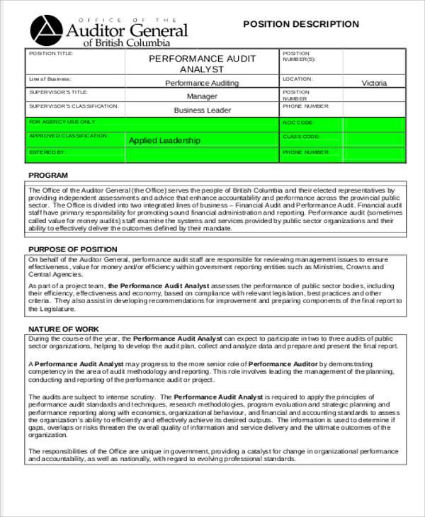 Nett Business Performance Analyst Job Description Fotos - Bilder für - Management Analyst Job Description