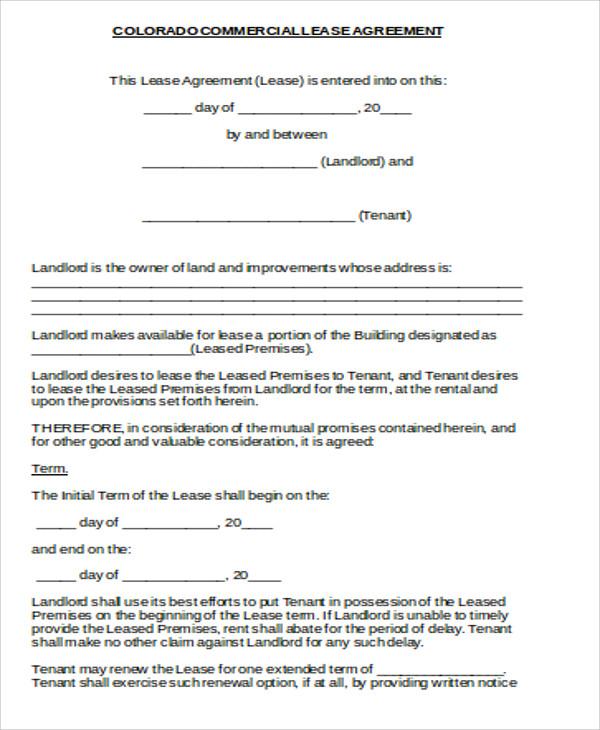 standard commercial lease agreement - Pinarkubkireklamowe