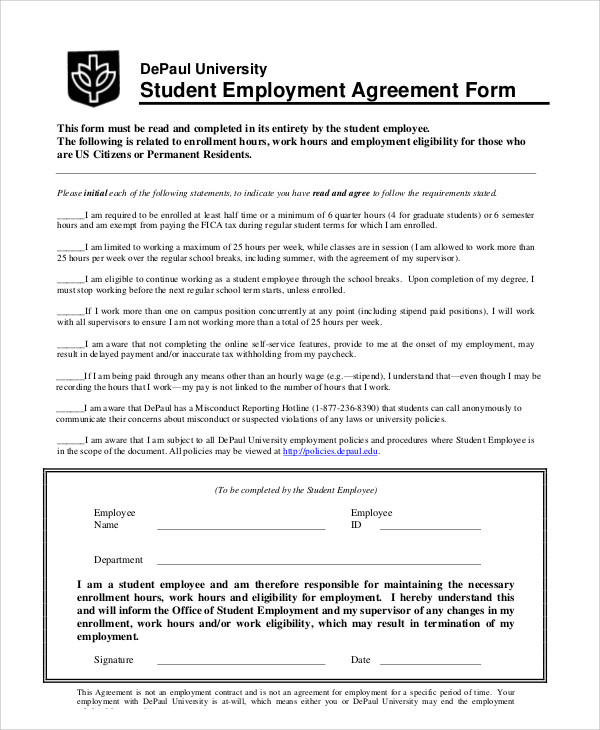employment agreement form