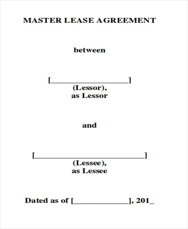 ... 7+ Master Lease Agreement Sample   Examples In Word, PDF   Lease  Agreement Contract ...
