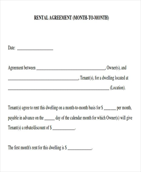 month to month lease agreements - fototango