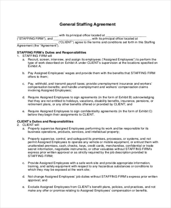 8+ Sample Company Contract Agreements Sample Templates