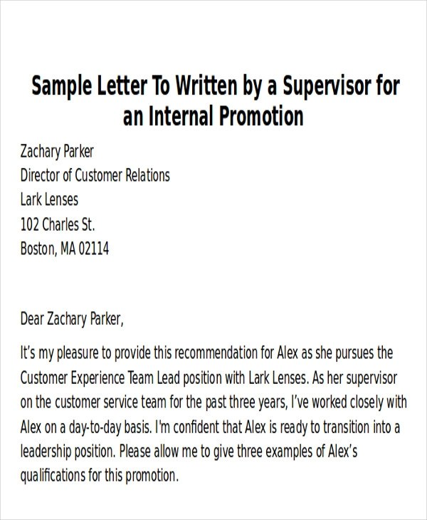 6+ Sample Thank-You Letter for Promotion Sample Templates
