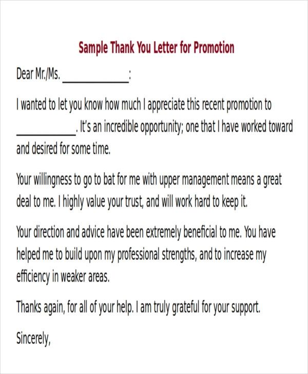 thank you for job opportunity letter