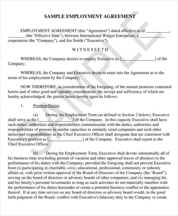 Sample Executive Agreement Sample It Director Resume It Director - sample executive agreement