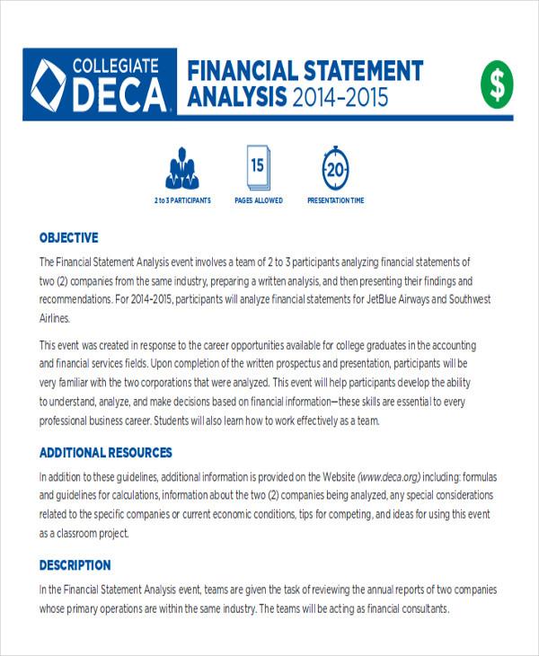 9+ Financial Analysis Samples Sample Templates