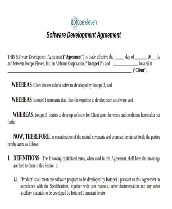 7+ Development Agreement Contract Samples Sample Templates - development agreement contract