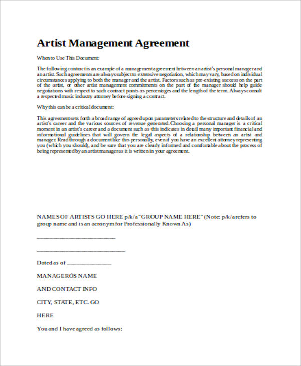 Contract Management Agreement Using An Intranet For Contract - management agreement