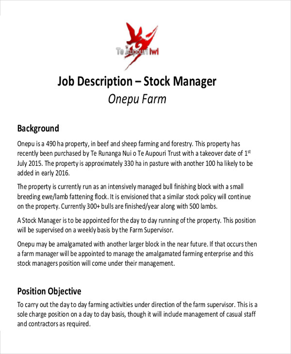 Stock Associate Job Description In Order To Adjust Local Identity ...