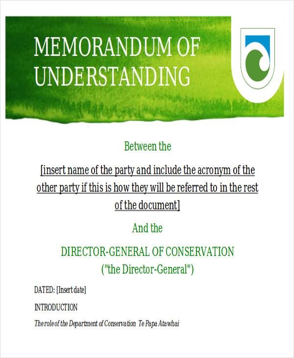 10+ Memorandum of Agreement Samples, Examples, Templates Sample
