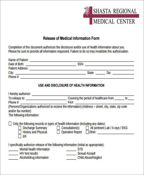 Doc# Medical Information Release Form u2013 The Alberta Release of - medical information release form