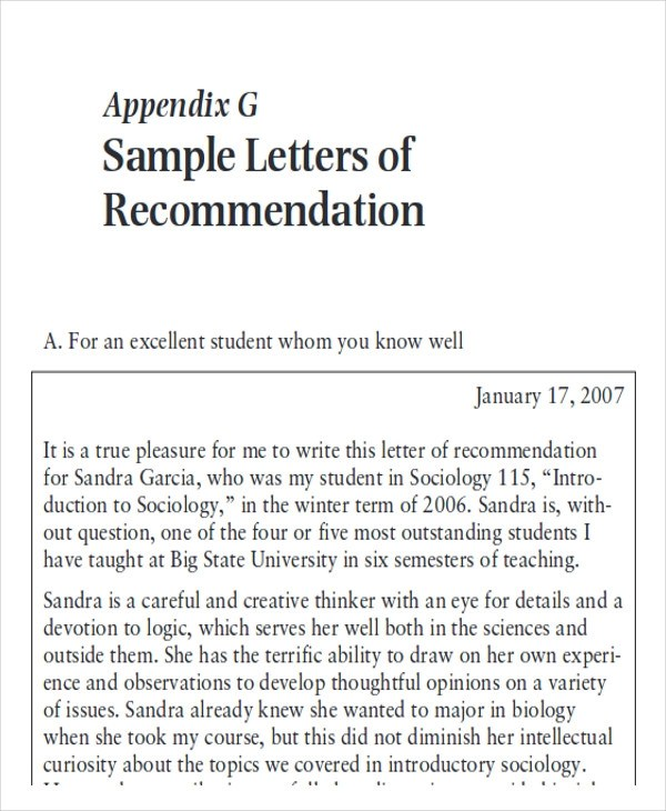 7+ Sample Physician Letter of Recommendation \u2013 Word, PDF Sample