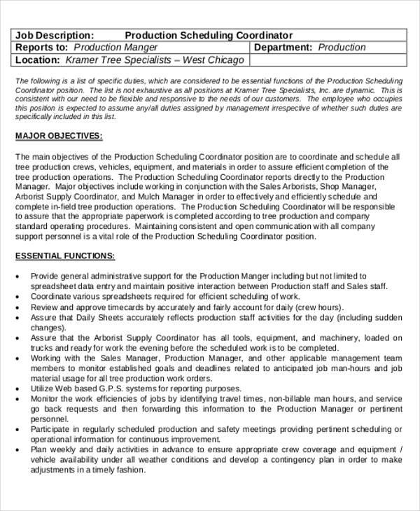 scheduling coordinator resumes