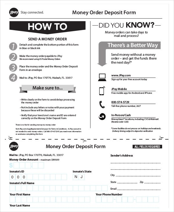 Delightful Sample Postal Order Form 9+ Examples In Word, PDF Money Order .