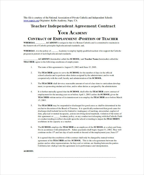 Independent Agreement Contract  NodeCvresumePaasproviderCom