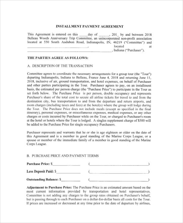 15+ Payment Agreement Contract Samples Sample Templates - payment agreement contract