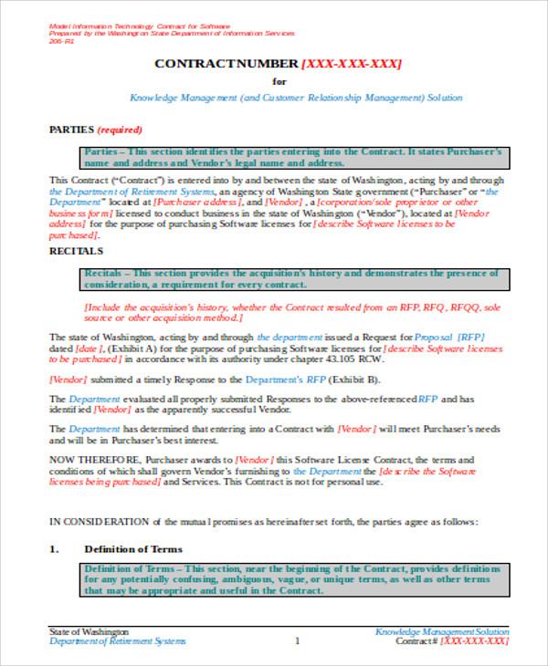 vendor contract agreement - Teacheng
