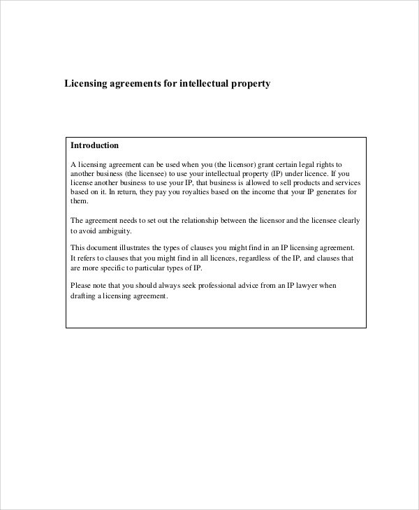 Sample Property Contract Agreement - 8+ Examples in Word, PDF - sample licensing agreement