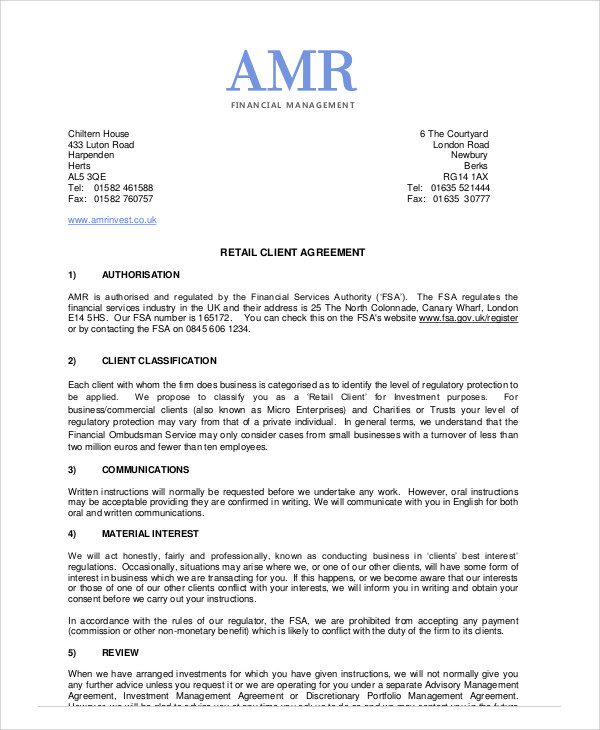 Sample Business Management Agreement - 9+ Examples in Word, PDF