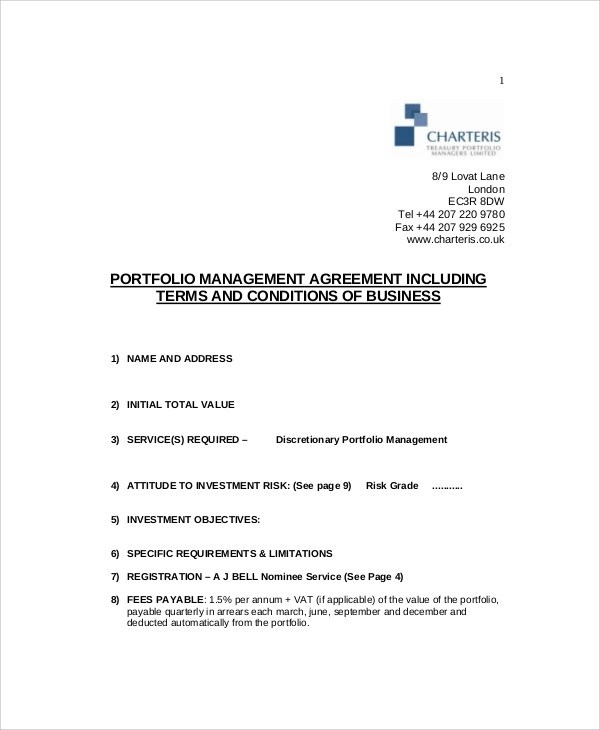 Investment Management Agreement Investment Management Agreement