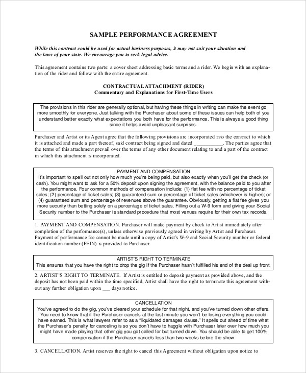 11+ Sample Work Contract Agreements Sample Templates