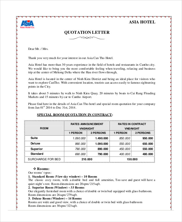 Quotation Sample Pdf Quote Form Template Pdf Quotation Quotation - Contractor Quotation Sample
