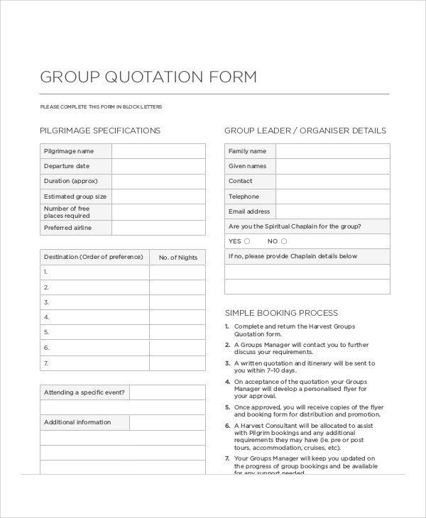 Doc#460595 Quotation Form u2013 Price Quotation Format Template - consultant quotation