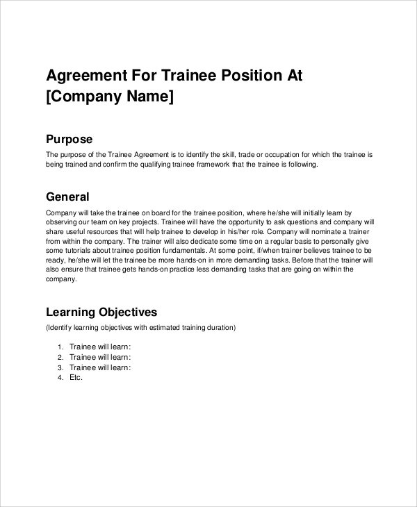 Employee Training Agreement Template  Feedback form