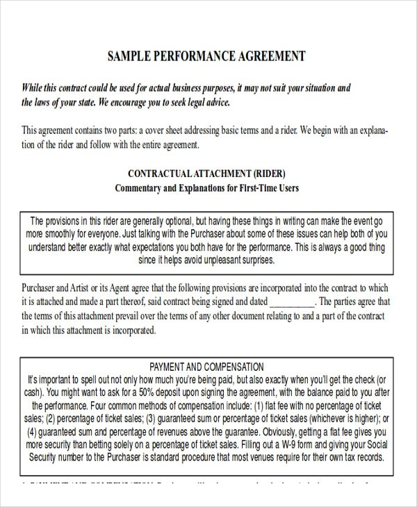Sample Job Agreement Rider Professional resumes sample online - job agreement contract