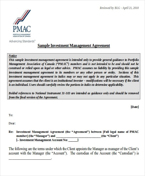 Sample Investment Contract Agreements - 10+ Examples in Word, PDF